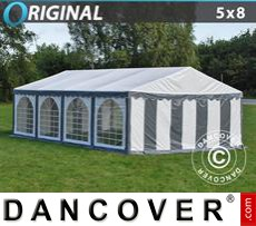 Party Marquee Original 5x8 m PVC, Grey/White
