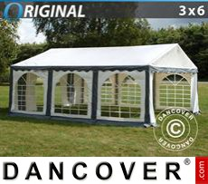 Party Marquee Original 3x6 m PVC, Grey/White