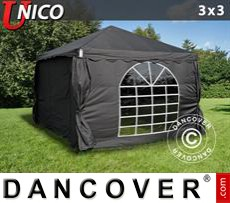 Party Marquee UNICO 3x3 m, Black
