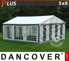 Party Marquee PLUS 5x6m PE, Grey/White