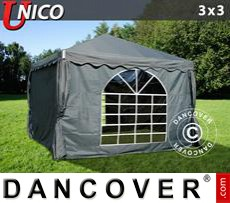 Party Marquee UNICO 3x3 m, Dark Grey