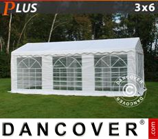 Party Marquee PLUS 3x6 m PE, White