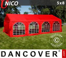 Party Marquee UNICO 5x8m, Red
