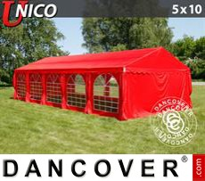 Party Marquee UNICO 5x10 m, Red