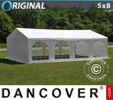 Party Marquee Original 5x8 m PVC, White
