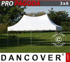 Pop Up Marquee PRO Peak Pagoda 3x6 m White