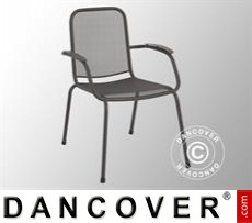 Chair with armrests, Lopo, 60.5x71x,83.5, 4 pcs., Iron Grey