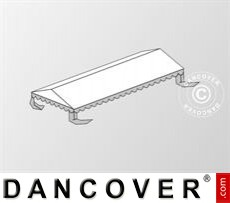 Roof cover for Marquee Plus 5x8 m PE, White / Grey