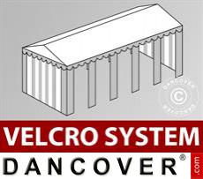 Roof cover with Velcro for Original marquee 5x10 m, White / Grey