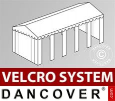 Roof cover with Velcro for Original marquee 5x10 m, White
