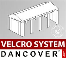 Roof cover with Velcro for Original marquee 5x8 m, White