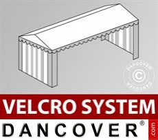 Roof cover with Velcro for Plus marquee 4x10 m, White / Grey