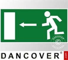 Emergency sign, left arrow, sticker 5 pcs.