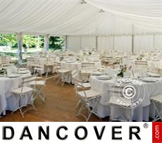 Marquee lining and leg curtain pack, white, for 6x8 m marquee