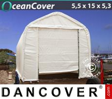 Boat shelter Oceancover 5.5x15x4.1x5.3 m