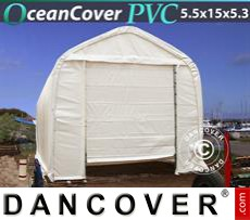 Boat shelter Oceancover 5.5x15x4.1x5.3 m, PVC