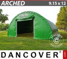Boat shelter 9.15x12x4.5 m, PVC Green