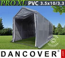Boat shelter PRO 3,5x10x3,3x3,94 m, PVC, Grey