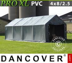 Camper Tent PRO 4x8x2.5x3.6 m, PVC, Grey