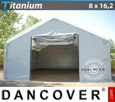 Camper Tent Titanium 8x16.2x3x5 m, White / Grey
