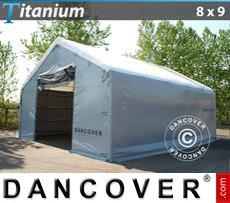 Camper Tent Titanium 8x9x3x5 m, White / Grey