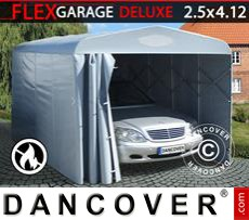 Folding tunnel garage (Car), 2.5x4.12x2.15 m, Grey