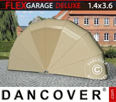 Folding garage (MC), 1.4x3.6x1.8 m, Beige