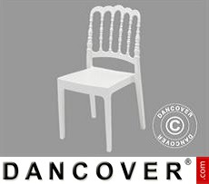 Event Furniture Chair, Napoleon, White, 6 Pcs.