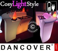 Event Furniture LED Bar, Corner Table