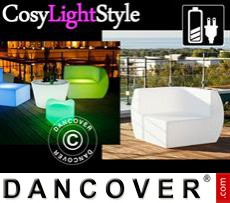 Event Furniture LED Sofa, Corner, Chill, 88x88x68 cm