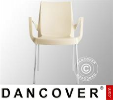 Event Furniture Chair with armrests, Boulevard, Ivory, 6 pcs.
