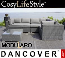 Garden Furniture Lounge Set VI, 4 modules, Modularo, Grey
