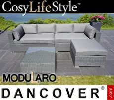 Garden Furniture Lounge Set III, 4 modules, Modularo, Grey
