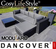 Garden Furniture Lounge Set III, 4 modules, Modularo, Black