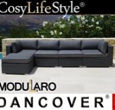 Garden Furniture Lounge Sofa II, 5 modules, Modularo, Grey