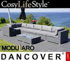 Garden Furniture Lounge Set III, 7 modules, Modularo, Grey