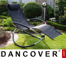 Garden Furniture Sun Lounger Swing Black