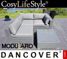 Garden Furniture Lounge Set I, 4 modules, Modularo, Grey