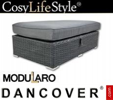 Garden Furniture footstool for Modularo, Retangular, Black