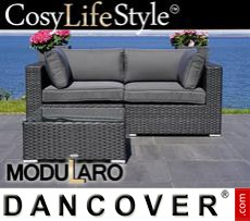Garden Furniture Lounge Set, 3 modules, Modularo, Black