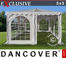 Garden gazebo Exclusive 5x5 m PVC, White