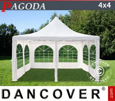 Garden gazebo 4x4 m, Off-White