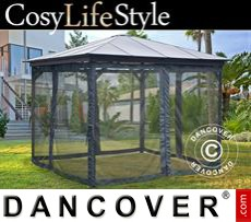 Garden gazebo, 3.6x3.6m, Dark Grey