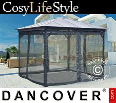 Garden gazebo, 3x3m, Dark Grey