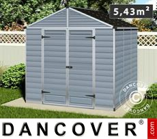 Garden shed, SkyLight, 2.29x2.29x2.34 m, Dark Grey