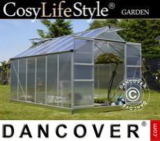 Greenhouse 9.13m², 2.48x3.68x2.26m, Aluminium
