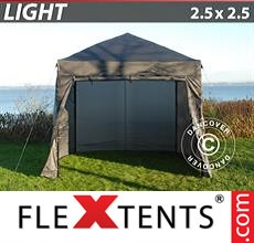Pop up canopy Light 2.5x2.5 m Grey, incl. 4 sidewalls