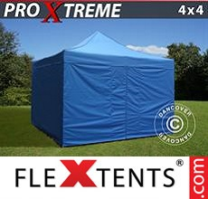 Pop up canopy Xtreme 4x4 m Blue, incl. 4 sidewalls