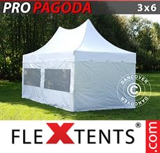 Pop up canopy PRO Peak Pagoda 3x6 m White, Incl. 6 sidewalls