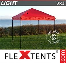 Pop up canopy Light 3x3 m Red